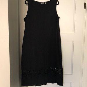 Liz Claiborne cotton maxi dress in black